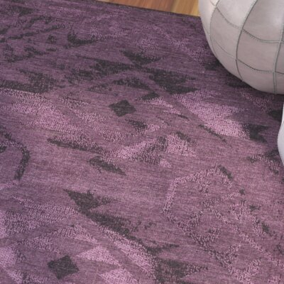 Sanaoubar Black/Purple Area Rug Rug Size: 4' x 6'