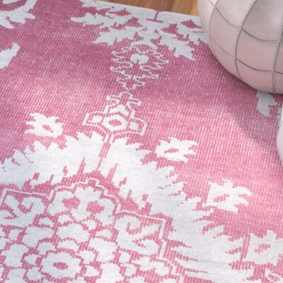 Moulouya Hand-Knotted Pink Area Rug Rug Size: Square 6