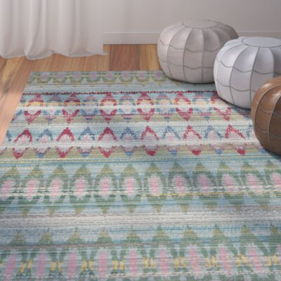 Thanh Light Blue Area Rug Rug Size: 5 x 8