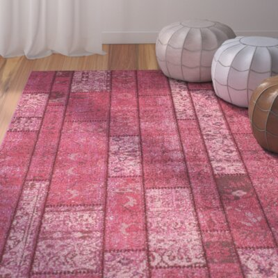 Pink Area Rug Rug Size: 51 x 77
