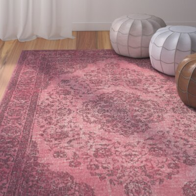 Kymmi Fuchsia Area Rug Rug Size: Rectangle 24 x 48