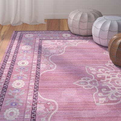 Bradford Pink Area Rug Rug Size: Rectangle 5 x 8