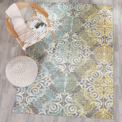 Elson Grey/Ivory Area Rug Rug Size: Rectangle 8 x 10