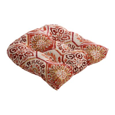 Zutphen Outdoor Chair Cushion Color: Crimson
