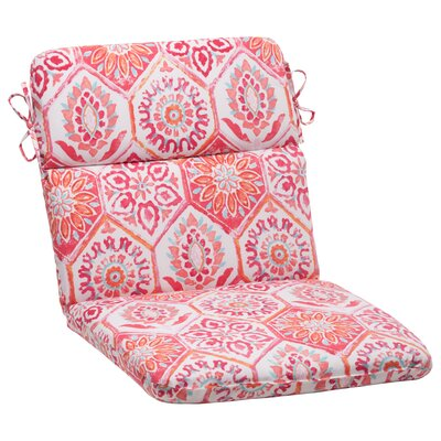 Dyanna Square Outdoor Chair Cushion Color: Pink / Orange / Turquoise / White