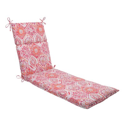Dyanna Outdoor Chaise Lounge Cushion Color: Pink / Orange / Turquoise / White