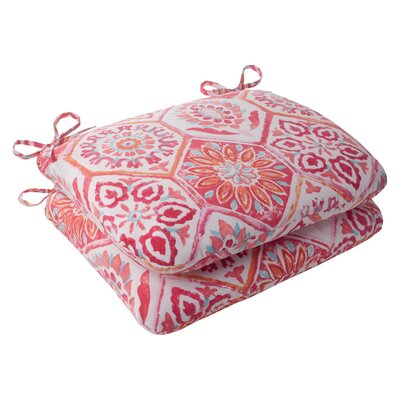 Dyanna Outdoor Seat Cushion Color: Pink / Orange / Turquoise / White