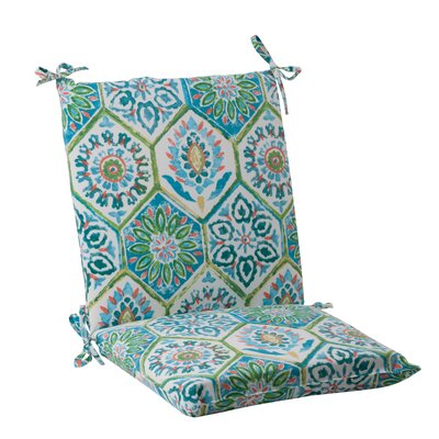 Dyanna Outdoor Chair Cushion Color: Blue / Turquoise / Coral / White