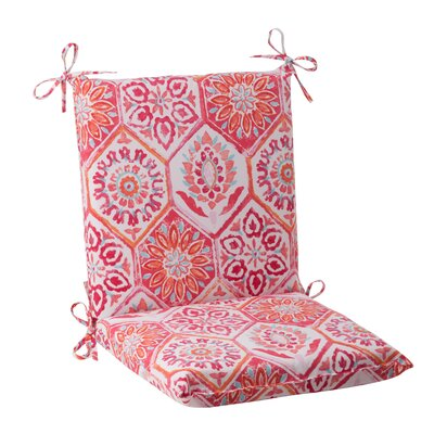 Dyanna Outdoor Chair Cushion Color: Pink / Orange / Turquoise / White