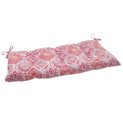 Dyanna Outdoor Loveseat Cushion Color: Pink / Orange / Turquoise / White