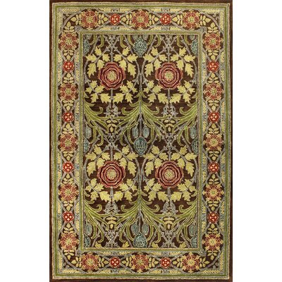 Barney Hand-Tufted Chocolate Area Rug Rug Size: 39 x 59