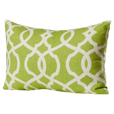 Brennan Cotton Lumbar Throw Pillow Color: Green / Beige