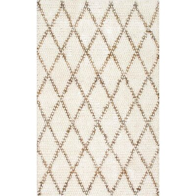 Racquel Hand-Hooked Ivory Area Rug Rug Size: Rectangle 76 x 96
