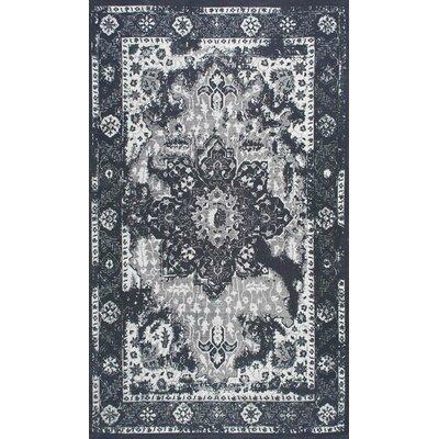 Ayman Charcoal Area Rug Rug Size: 76 x 96