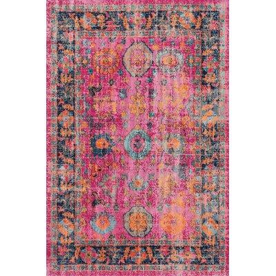 Ayush Pink Area Rug Rug Size: 8 x 10