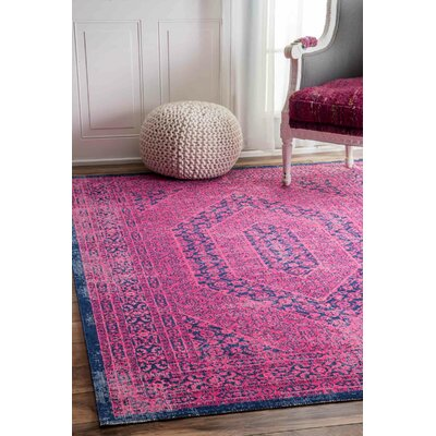 Chira Pink Area Rug Rug Size: Rectangle 4 x 6