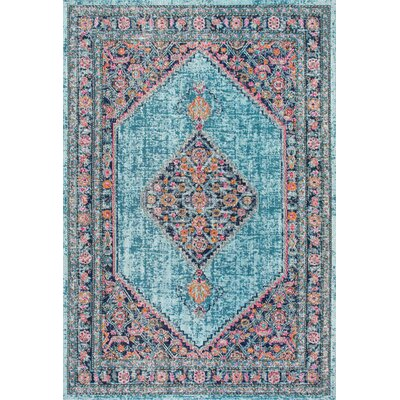 Babita Blue/Pink Area Rug Rug Size: Rectangle 5 x 75