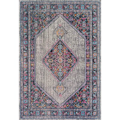 Choncey Gray/Black Area Rug Rug Size: Rectangle 8 x 10