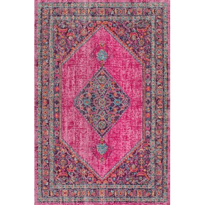 Christensen Pink Area Rug Rug Size: Rectangle 5 x 75