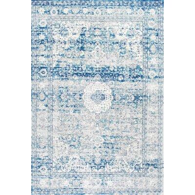 Christiane Vintage Blue Area Rug Rug Size: 9 x 12
