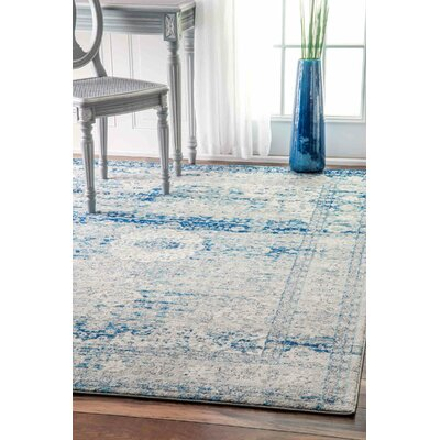 Christiane Vintage Blue Area Rug Rug Size: Rectangle 4 x 6