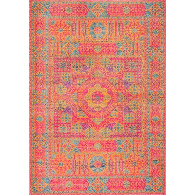 Paloma Orange Area Rug Rug Size: 4 x 6