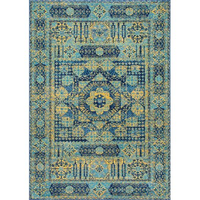 Christofor Blue Area Rug Rug Size: Rectangle 5 x 75