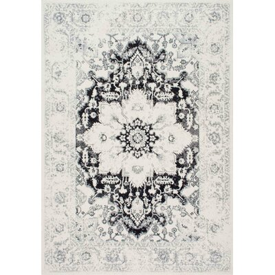Church Black/Gray Area Rug Rug Size: 9 x 12