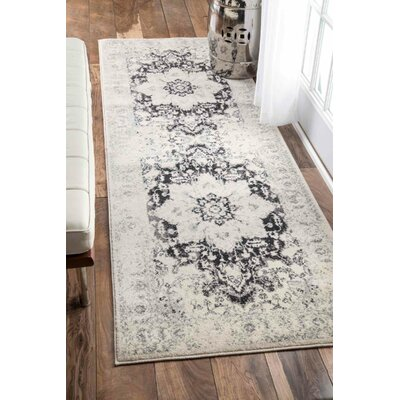 Church Black/Gray Area Rug Rug Size: Runner 28 x 8