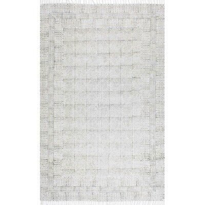 Clarette Gray Area Rug Rug Size: 86 x 116