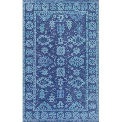 Behl Hand-Tufted Blue Area Rug Rug Size: Rectangle 7'6