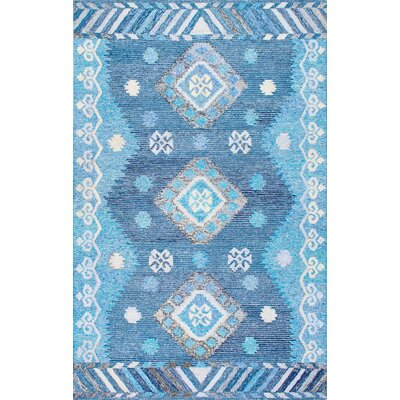Bhakta Hand-Tufted Blue Area Rug Rug Size: Rectangle 76 x 96