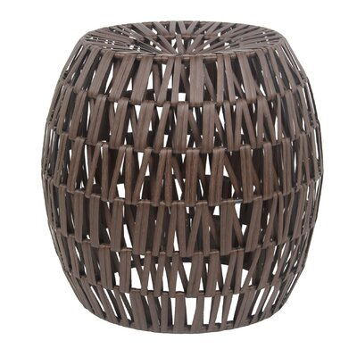 Briella Wicker Stool Finish: Brown Dark Wash