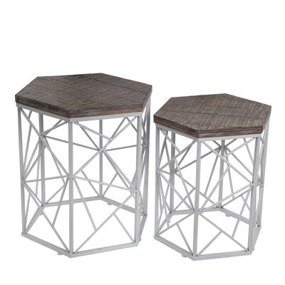 Edgartown 2 Piece End Table Set Finish: White
