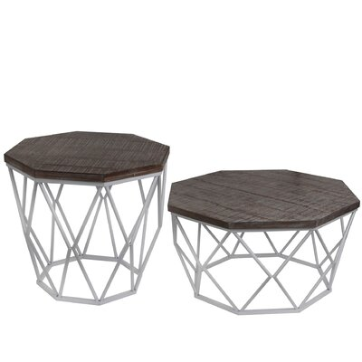 Brooklyn 2 Piece End Table Set Finish: White