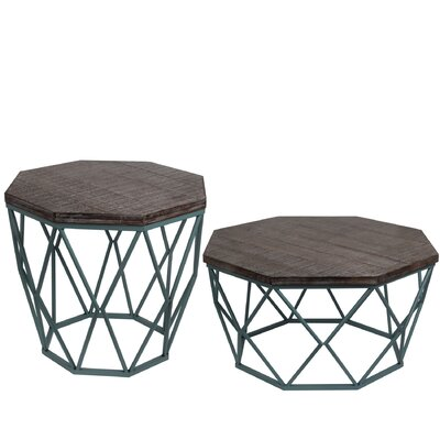 Brooklyn 2 Piece End Table Set Finish: Blue