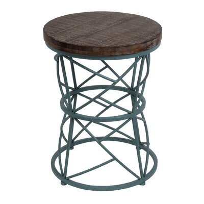 Hampton Round Accent End Table Finish: Blue