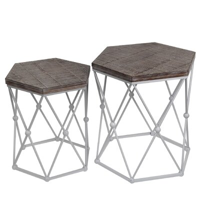 Desirat 2 Piece End Table Set