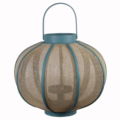 Wood Lantern Color: Turquoise