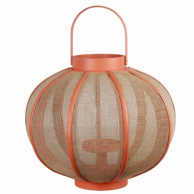 Wood Lantern Color: Orange