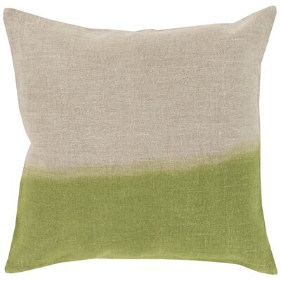 Hodge Throw Pillow Cover Size: 18 H x 18 W x 0.25 D, Color: NeutralGreen