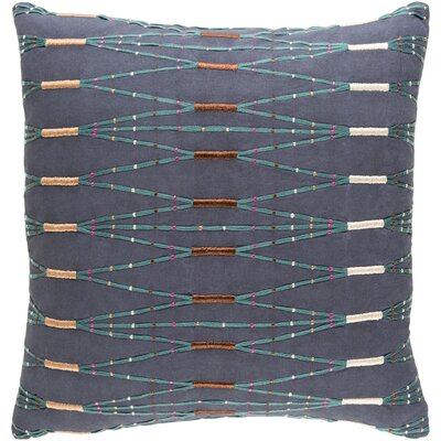 Chiara Cotton Pillow Cover Size: 20 H x 20 W x 0.25 D, Color: Blue/Green