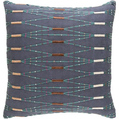 Chiodo Cotton Throw Pillow Color: Blue/Green