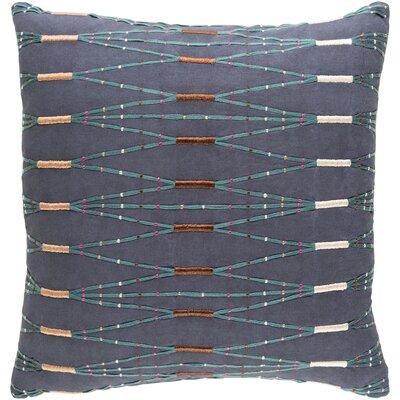 Chiodo Cotton Throw Pillow Color: Blue/Green