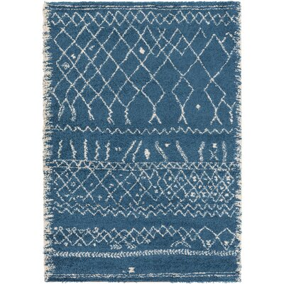 Heather Blue/Neutral Area Rug Rug Size: Rectangle 53 x 77