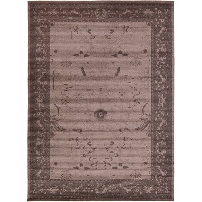 Imperial Dark Brown Area Rug Rug Size: 13 x 18
