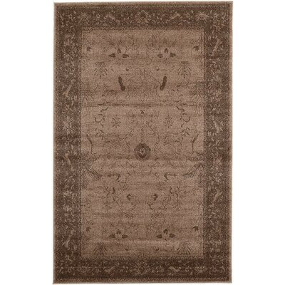 Imperial Dark Brown Area Rug Rug Size: 5 x 8