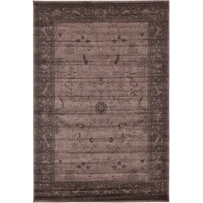 Imperial Dark Brown Area Rug Rug Size: 6 x 9