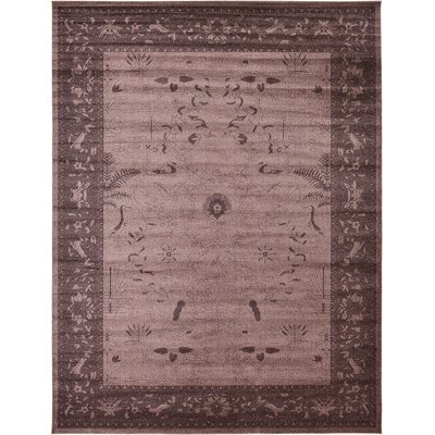 Imperial Dark Brown Area Rug Rug Size: 122 x 16