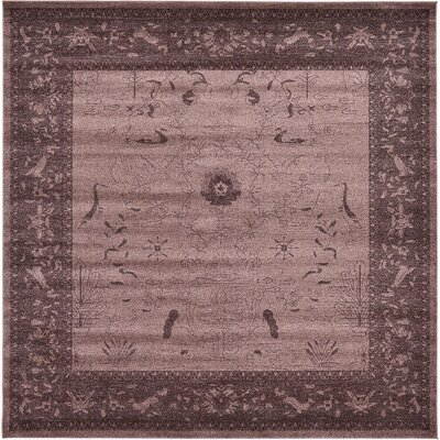 Imperial Dark Brown Area Rug Rug Size: Square 10